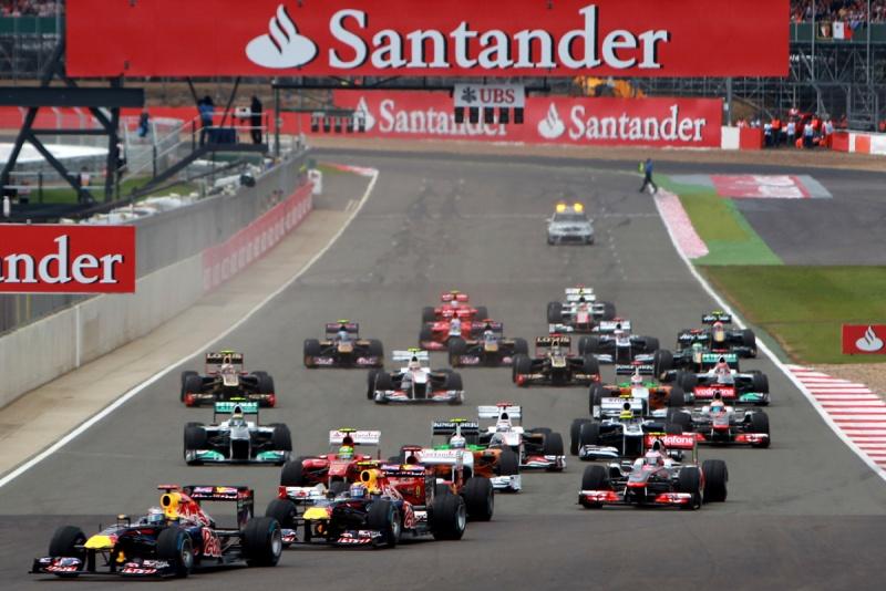 Largada do GP da Grã-Bretanha de 2011