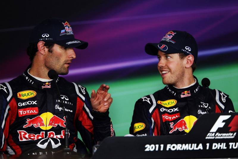 Mark Webber e Sebastian Vettel estão fazendo a terceira temporada juntos na Red Bull