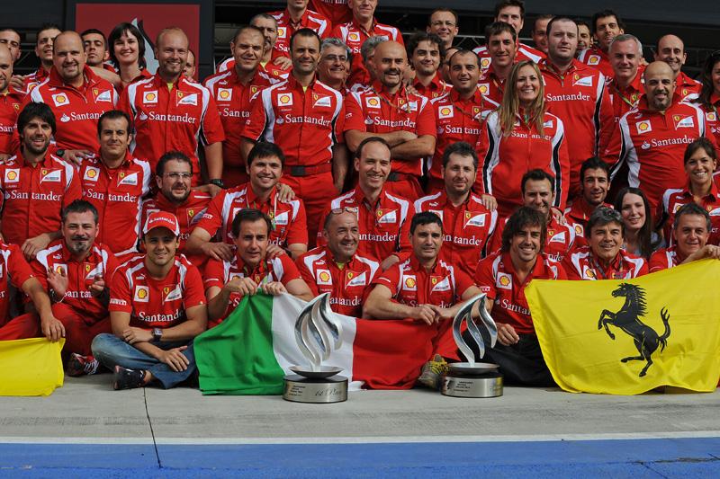 Massa durante a comemoração da Ferrari em Silverstone