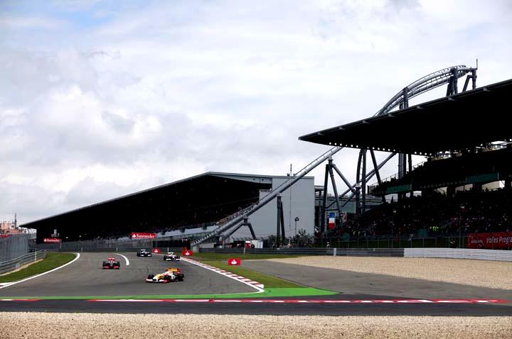 Detalhe de segundo setor de pista de Nurburgring
