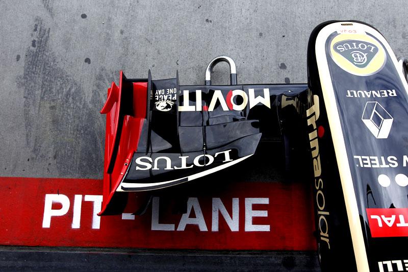 Bico do carro de Petrov em Nurburgring