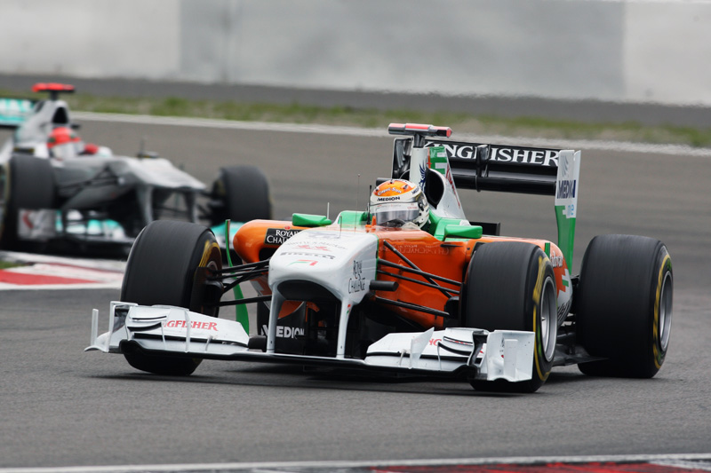Sutil superou as duas Mercedes no GP da Alemanha