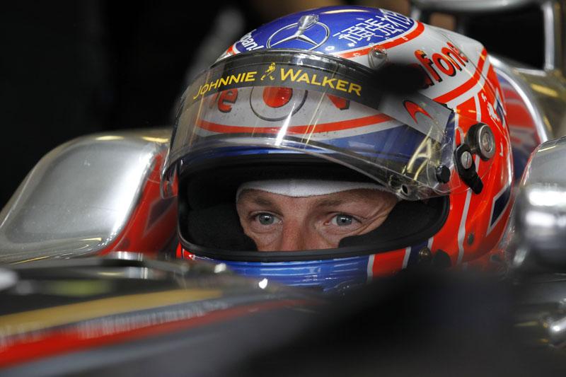 Button foi o terceiro mais rápido nos treinos de hoje