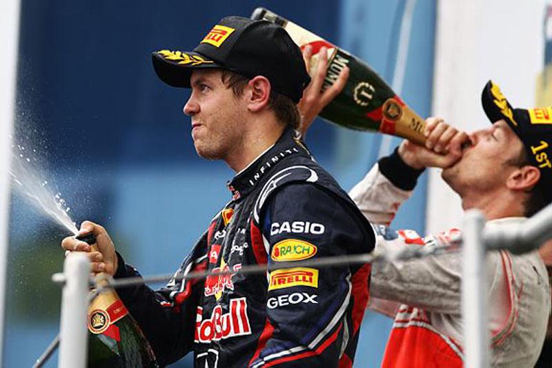 Mesmo sem vencer, Vettel aumentou sua vantagem na liderança do campeonato