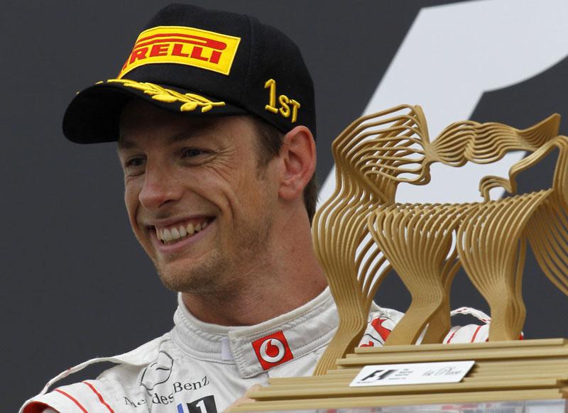 Button conquistou na Hungria sua 11ª vitória na carreira