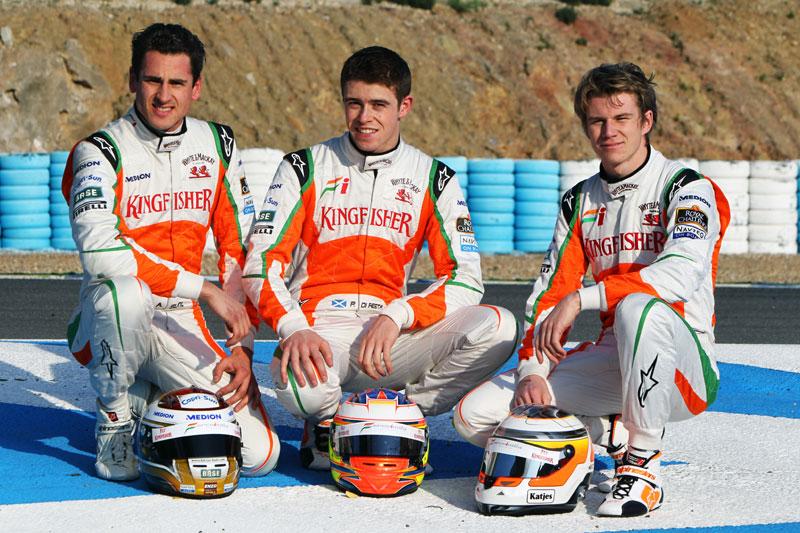 Adrian Sutil, Paul di Resta e Nico Hulkenberg