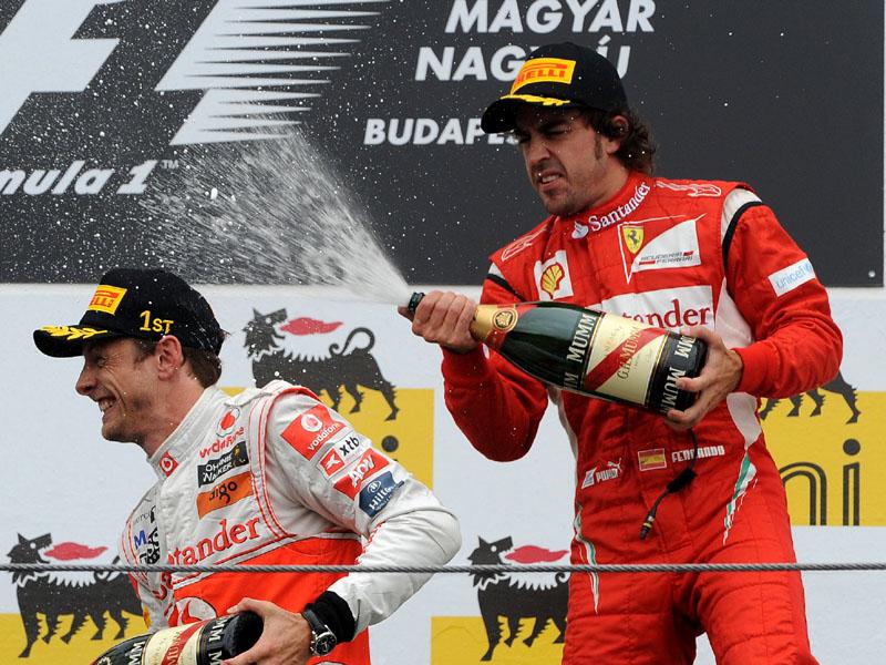 Jenson Button e Fernando Alonso
