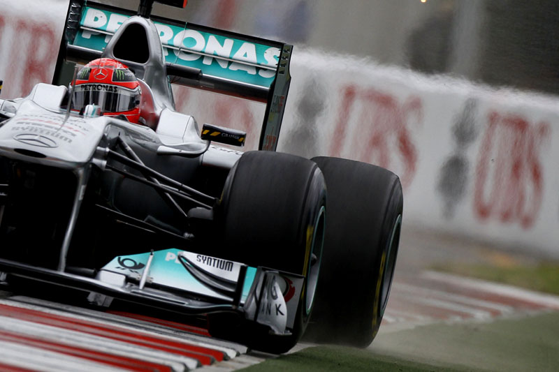 Schumacher: 13 voltas completadas nas duas últimas corridas