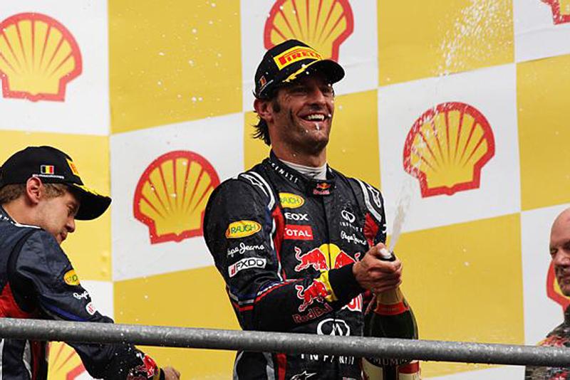 Webber foi o segundo colocado em Spa, como em 2010