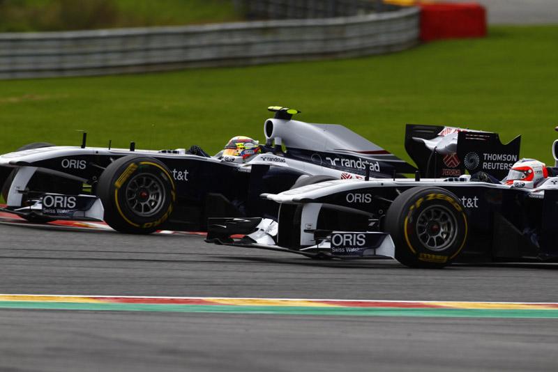 Barrichello e Maldonado fizeram boa parte da prova juntos