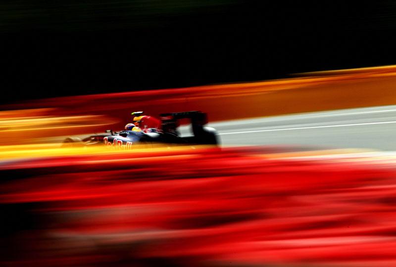 Mark Webber em Spa