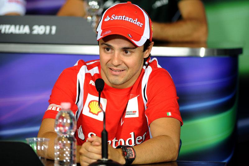 Felipe Massa na coletiva oficial do GP da Itália