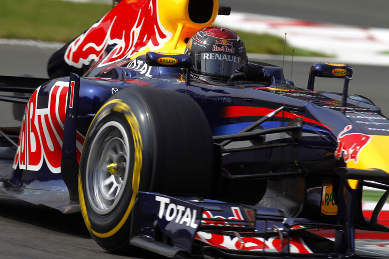 Sebastian Vettel em Monza (Divulgação/Pirelli)