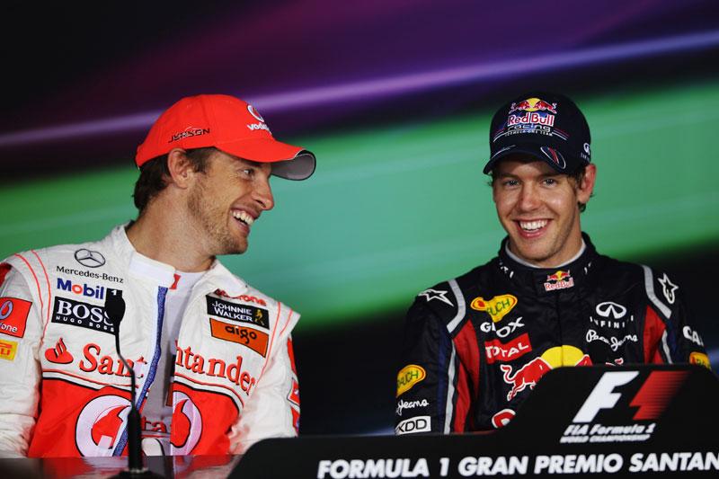 Jenson Button e Sebastian Vettel