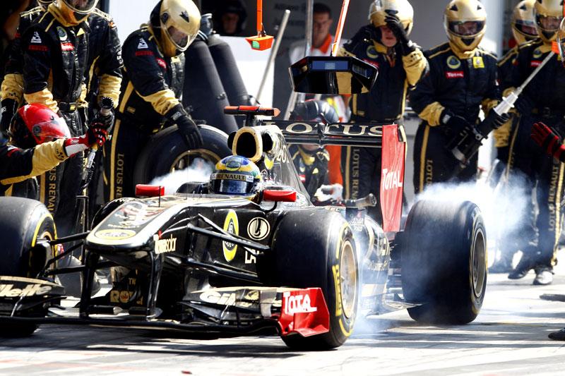 Bruno Senna em um dos pit stops do GP da Itália