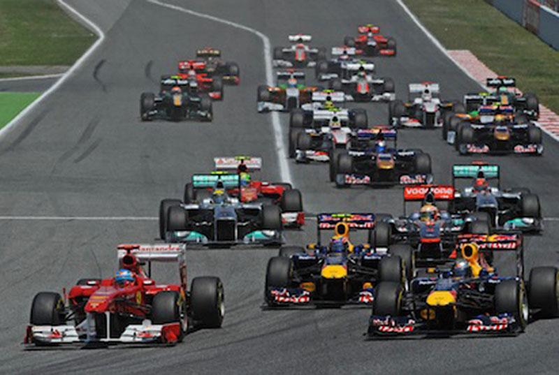 O GP da Espanha foi uma das vezes em que Webber perdeu posições
