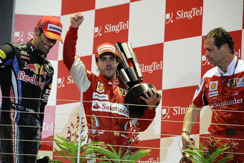 Alonso venceu em Cingapura em 2008 e 2010
