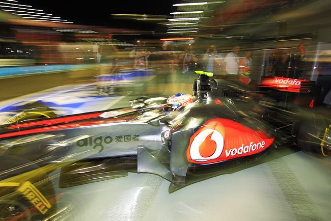Jenson Button em Cingapura