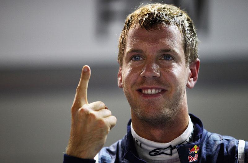 Vettel celebrou a nona vitória do ano em Cingapura