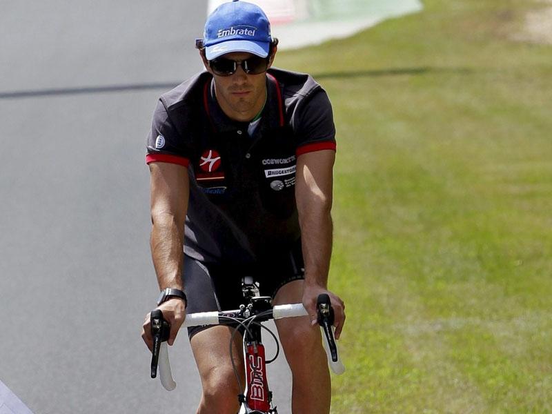 Bruno Senna anda de bike nos tempos de Hispania