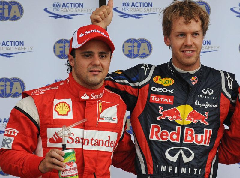 Massa e Vettel após a classificação do GP do Canadá