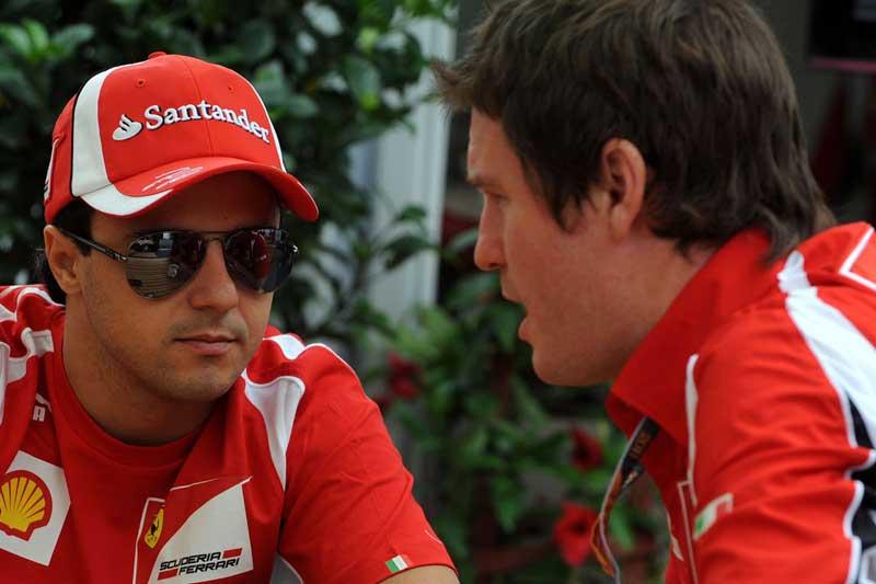 Felipe Massa e Rob Smedley