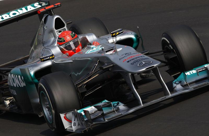 Schumacher ficou à frente de Rosberg em ambas as sessões hoje