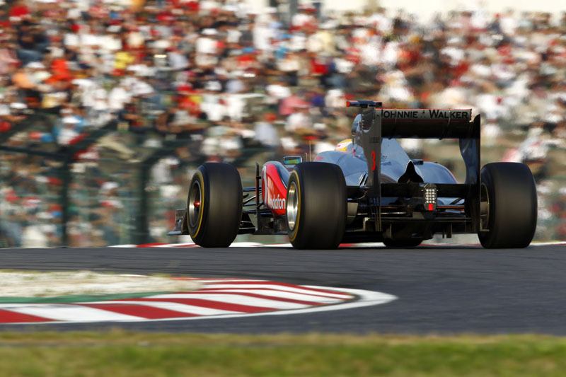 Hamilton durante o GP do Japão