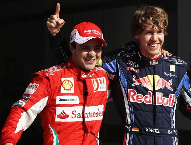 Massa e Vettel