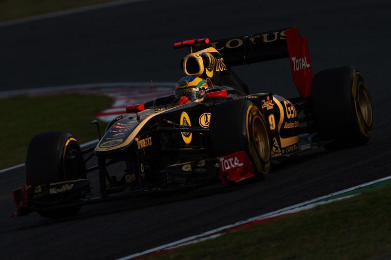 Senna durante o GP do Japão