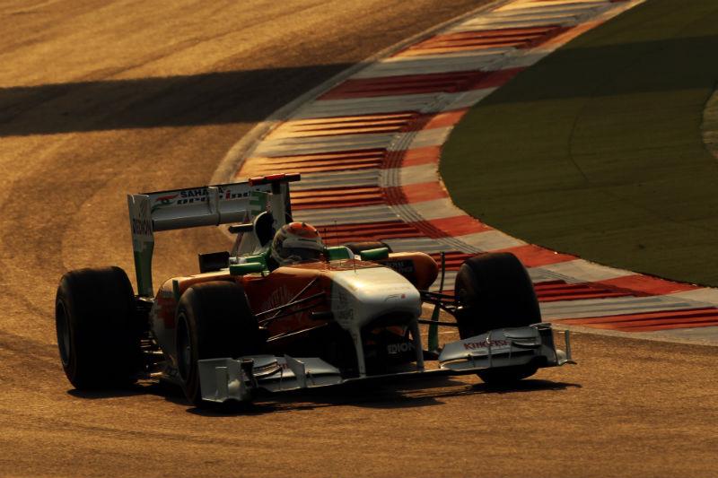 A Force India começou bem o final de semana correndo em casa