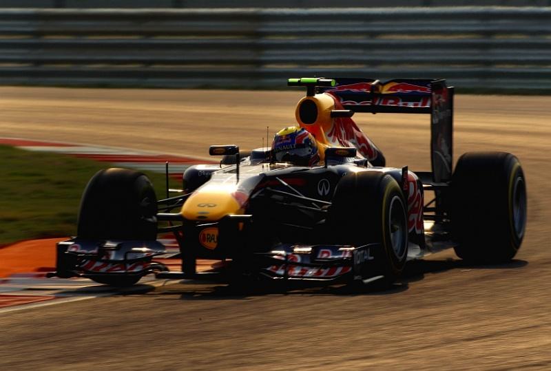 Webber larga em segundo na Índia