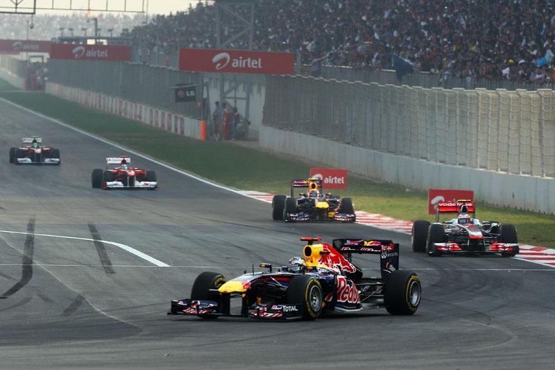 Pelo menos na disputa pela ponta, corrida foi uma procissão na Índia