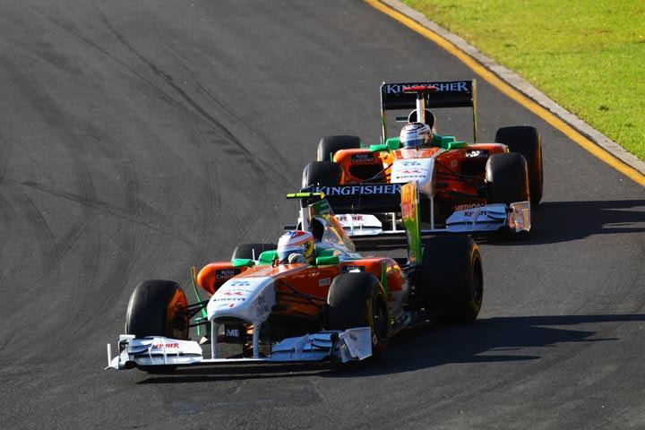 Paul di Resta e Adrian Sutil em Melbourne