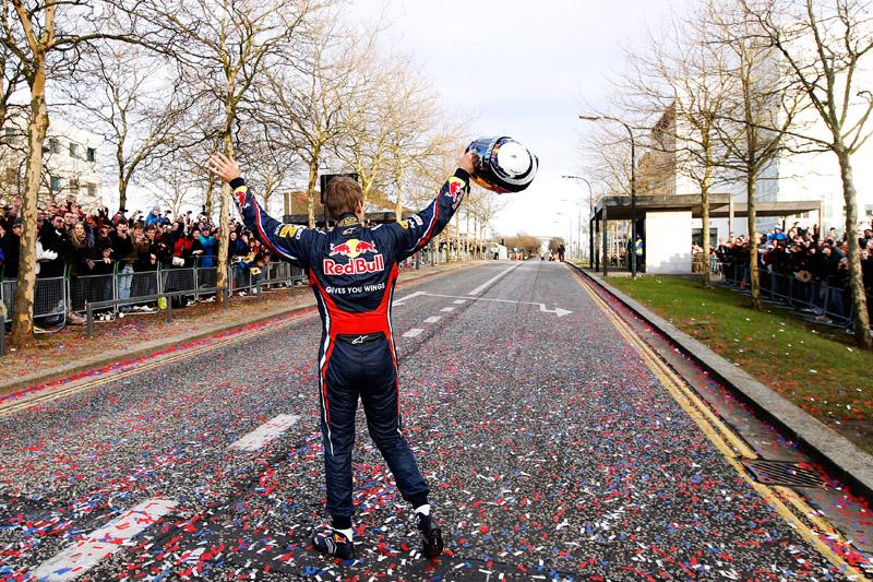 Vettel durante evento da Red Bull