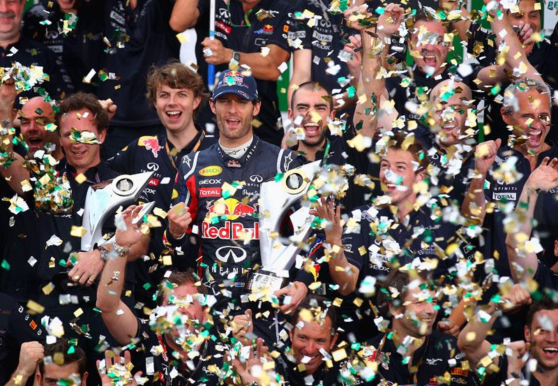 Red Bull comemora o sucesso de 2011 em Interlagos