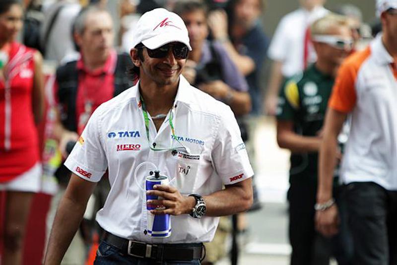 Karthikeyan durante o GP da Índia