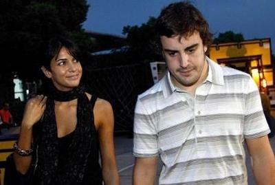 Raquel de Rosário e Fernando Alonso