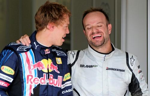 Vettel e Barrichello, em 2009