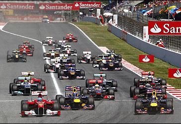 Largada do GP da Espanha de 2011