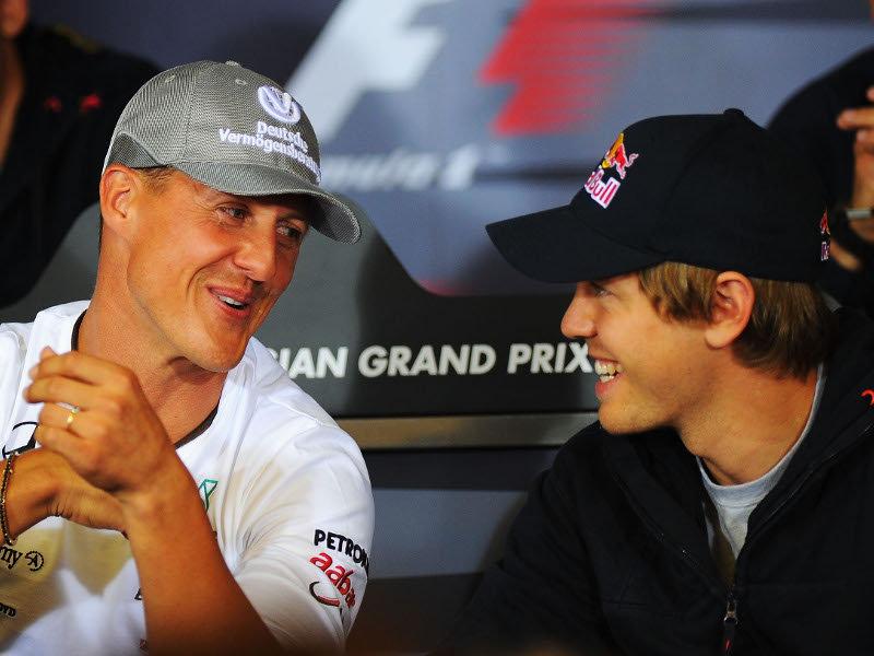Schumacher e Vettel