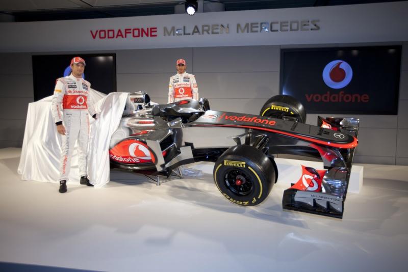 Detalhe da apresentação da McLaren