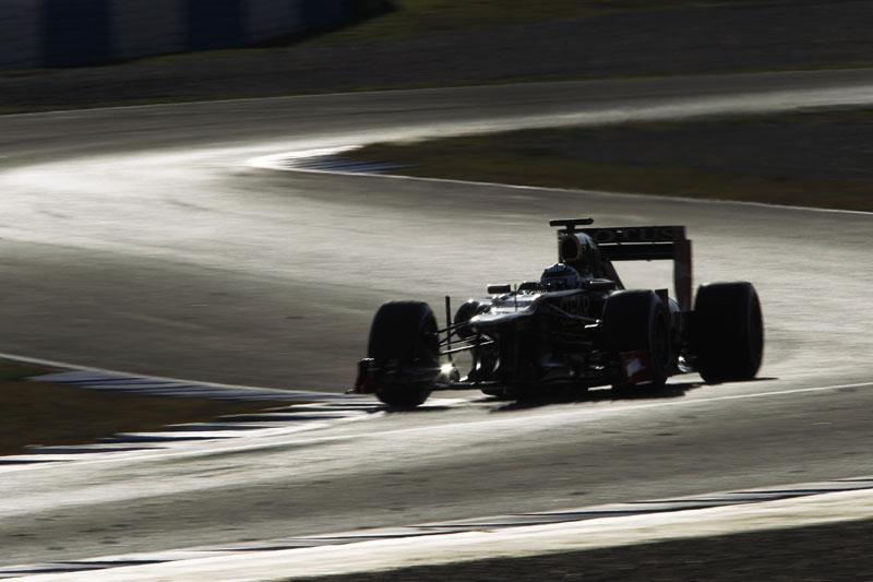 A Lotus vem mostrando velocidade em Jerez