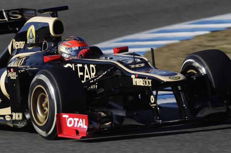 Grosjean fez o melhor tempo entre os carros de 2012