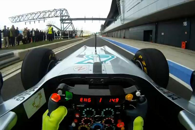 Frame do vídeo da Mercedes