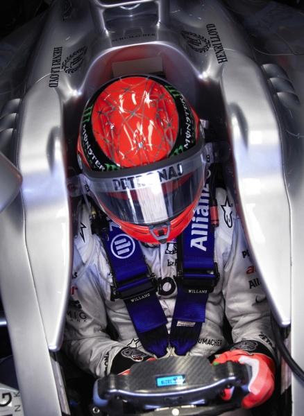 Schumacher fez uma boa corrida na Malásia, onde venceu por três vezes