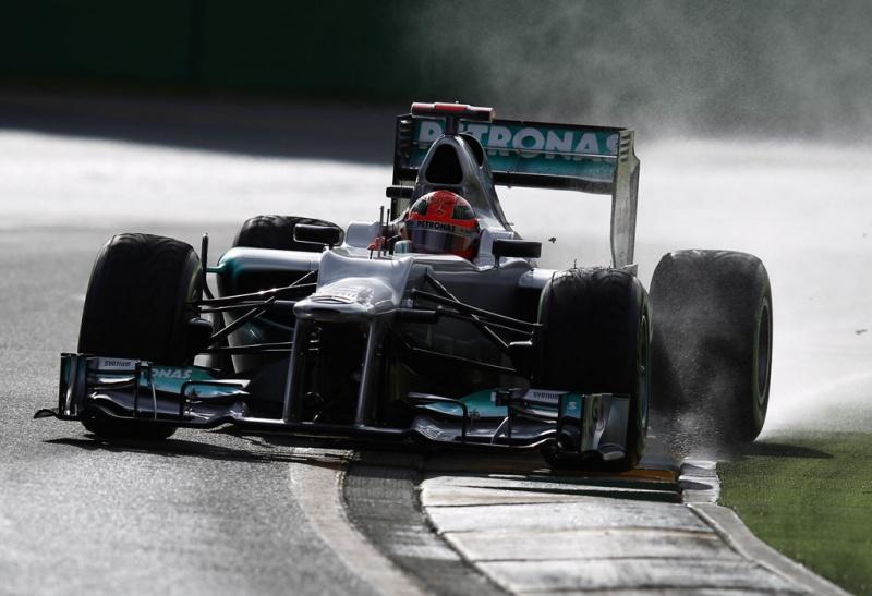 Schumacher foi o líder da última sessão de treinos