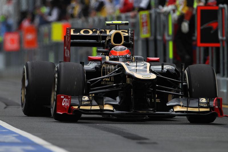 Grosjean impressionou em sua primeira classificação pela Lotus