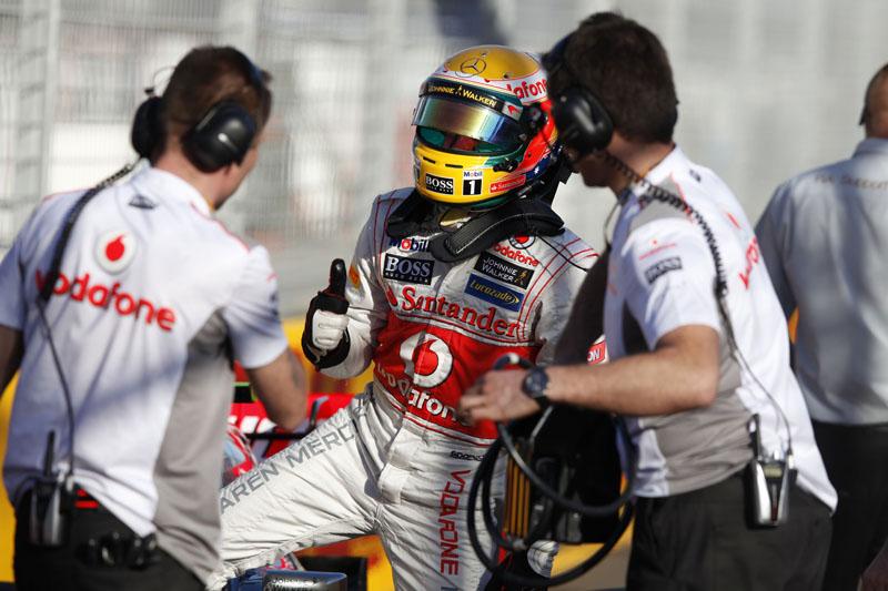 Hamilton não escondeu o descontentamento após largar na pole e terminar em terceiro