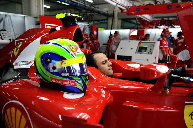 Massa treinou hoje com carro bastante modificado